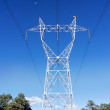 High voltage transmission tower — Stock Photo