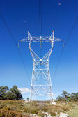 High voltage transmission tower — 图库照片