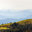 Stock Photo: Distant mountain ranges