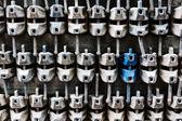 Industrial background with scaffold jacks — ストック写真