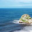 Стоковое фото: Small rocky island named Aketxe in Bermeo