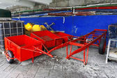 Carts and buoys on fishing store — ストック写真