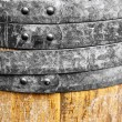 Old wine wooden barrel — Stock Photo