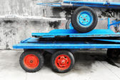 Old carts with wheels — Stock Photo
