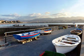 Boats in Puerto Viejo. Basque Country, Getxo, Spain. — Stock Photo