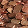European coins with cents of euro — Stock Photo