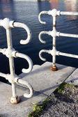 Railings near water — Stock Photo