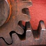 Rusty and metallic gear wheel — Stock Photo #46036999