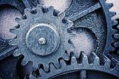 Rusty and metallic gear wheel — Foto de Stock