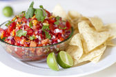 Chips and Salsa — Stock Photo