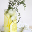 Lemon Thyme Soda - Stock Photo