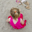 Young Girl in the Sand — Stock Photo