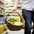 Basket filled healthy food — Stock Photo #21816411