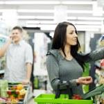 par en supermercado — Foto de Stock