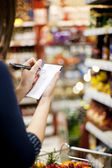 Shopping list — Stock Photo