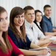 High school students in the classroom — Stockfoto