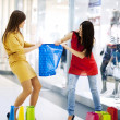 Fight for shopping bag - Stock Photo