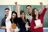 Successful smiling students — Stock Photo