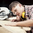 Stock Photo: Carpenter working