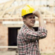 Portrait of construction worker — Stock Photo