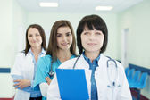 Doctors in a line — Stock Photo