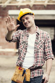 Portrait of construction worker — Stok fotoğraf