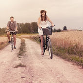 Cycling in summertime — Stock Photo