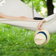 Relaxing on hammock — Stock Photo #21900971