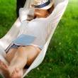Sleeping on hammock — Stock Photo