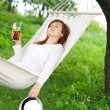 Sleeping on hammock — Stock Photo #21901123