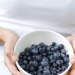 Bowl filled blueberries — Stock Photo
