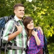 Young couple in forest — Stock Photo #21907739