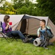 Young couple camping — Stock Photo #21907869