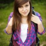 Beautiful female hiker — Stock Photo
