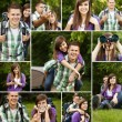 Young couple hiking - Foto Stock
