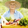 Senior woman with vegetable — Stock Photo