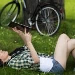 Woman using digital tablet — Stock Photo #21910161