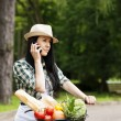 Young woman on the phone — Stock Photo #21910265