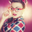Sexy pin up girl — Stockfoto