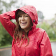 Young woman in raincoat — Stock Photo #21915529