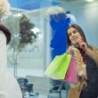 Attractive woman shopping — Stock Photo