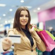 Attractive woman shopping — Stock Photo #21915923