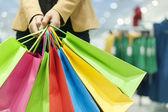 Mulher atraente compras — Foto Stock
