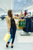 Attractive woman shopping — Стоковое фото