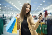 Attractive woman shopping — Foto Stock