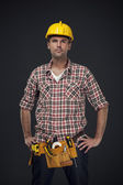 Manual worker with tool belt — Stock Photo