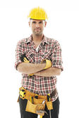 Handsome construction worker — Stock Photo