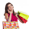 Busy woman on the shopping — Stock Photo #21963567