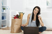 Online grocery shopping — Stock Photo