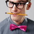 Foto Stock: Handsome nerd
